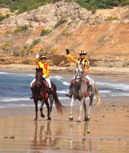 Jockeys on Barbate beach