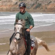 Chulo ridden by Roberto on Barbate beach Image